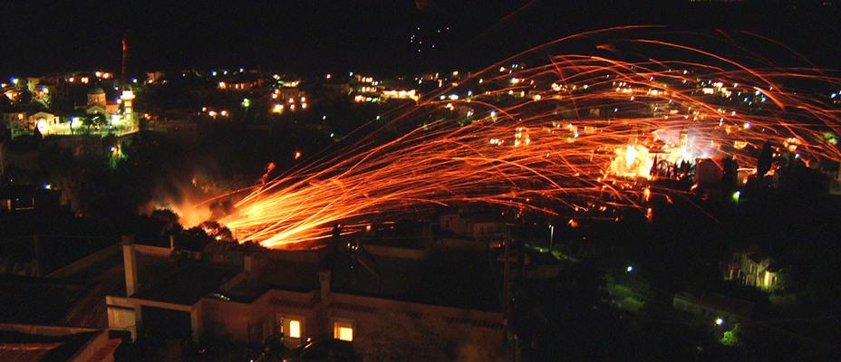 Chios Rocket War Vrontados, Greece - Spring events