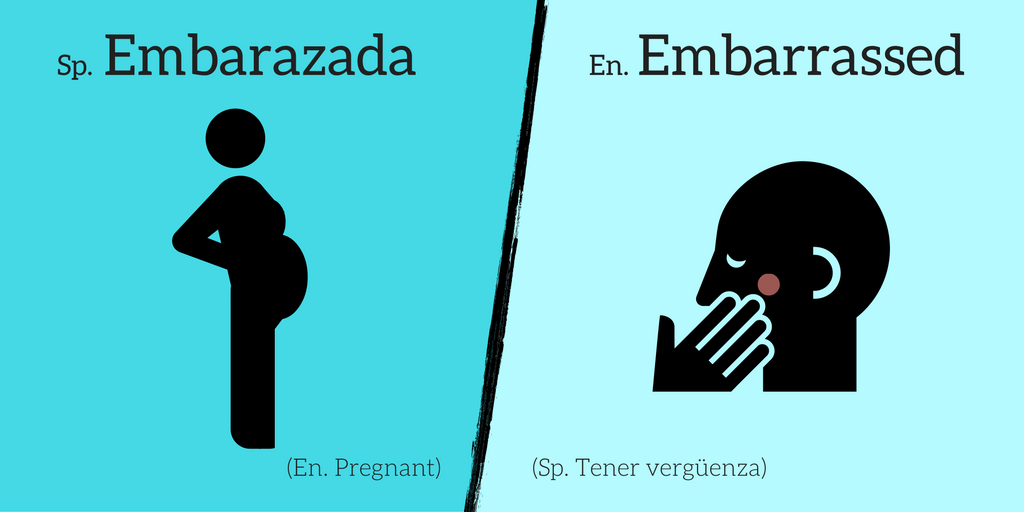 False friend: Embarazada ≠ Embarrassed