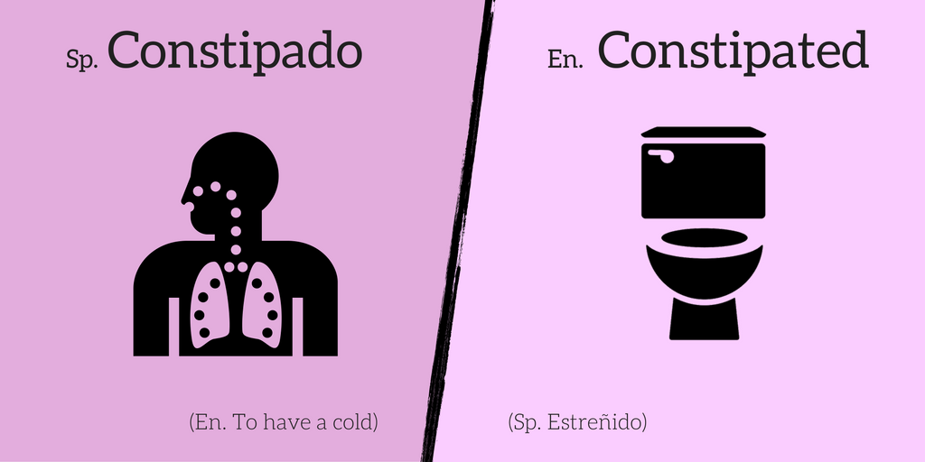 False friend: Constipado ≠ Constipated
