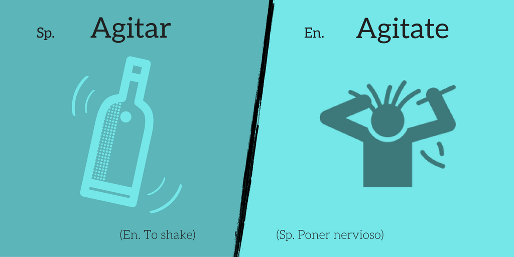False friend: Agitar ≠ Agitate