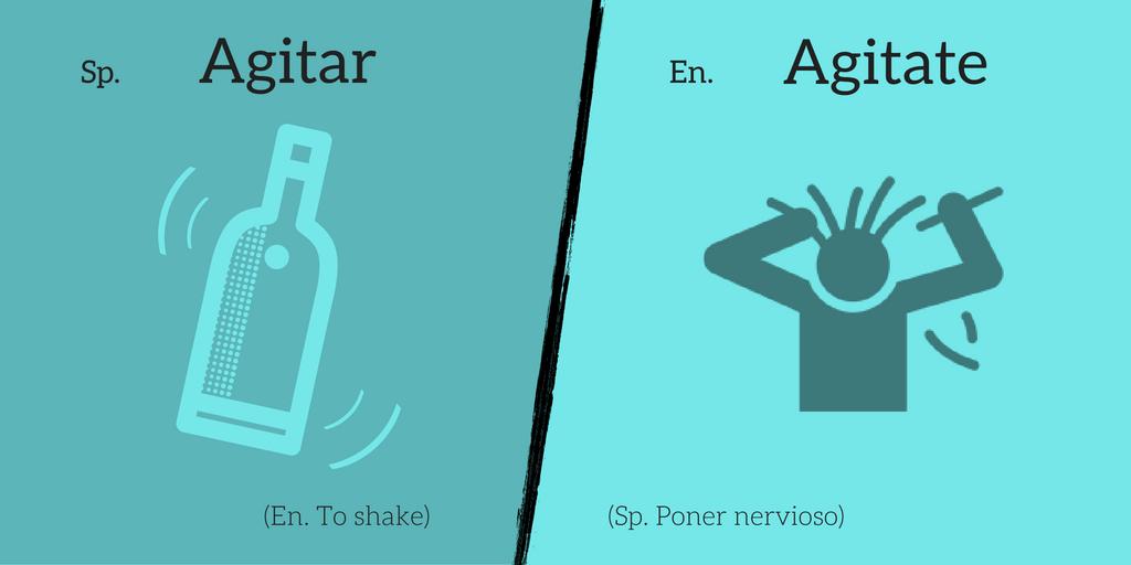 False friend: Agitar ≠ Agitate