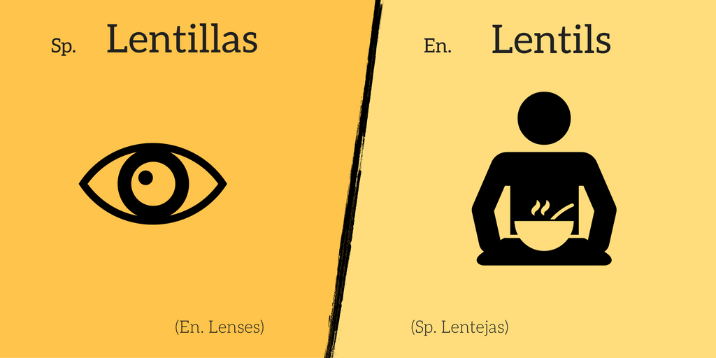 False friend: Lentillas ≠ Lentils