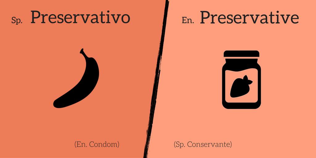 False friend: Preservativo ≠ Preservative